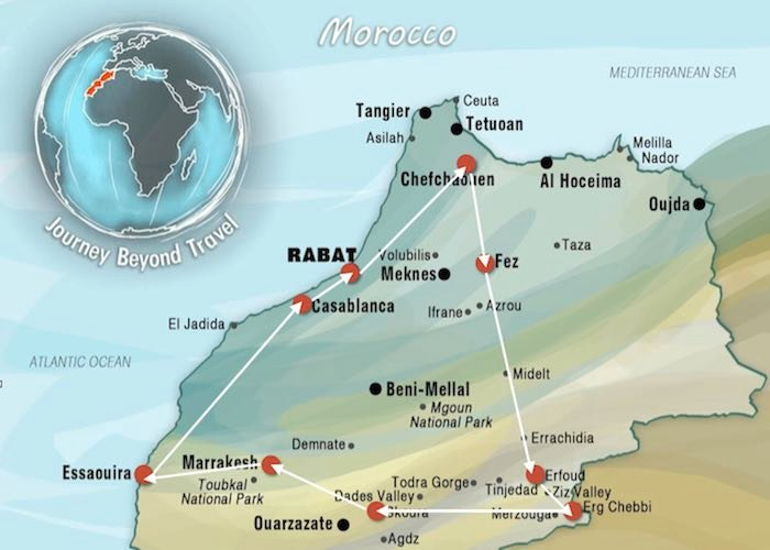 Ultimate Morocco Adventure Map